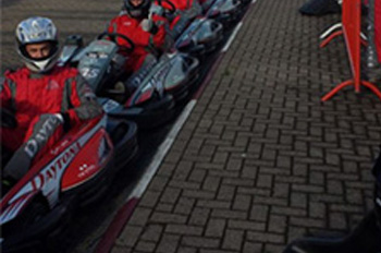 Revving up for a great day on the karts!