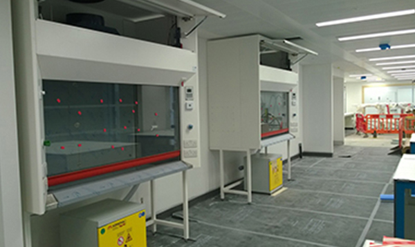 Relay undertakes huge lab equipment installation